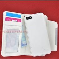 Apple iPhone 4S - Wallet Bookstyle Case uitneembaarhoesje Wit