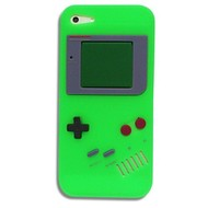 Apple Iphone 5 / 5S - Siliconen Case Gameboy Hoesje Groen