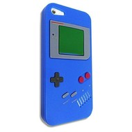Apple Iphone 5 / 5S - Siliconen Case Gameboy Hoesje Blauw