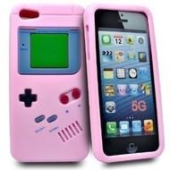Apple Iphone 5 / 5S - Siliconen Case Gameboy Hoesje Roze