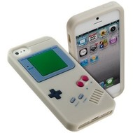 Apple Iphone 5 / 5S - Siliconen Case Gameboy Hoesje Wit