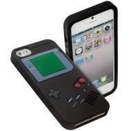 Apple Iphone 5 / 5S - Siliconen Case Gameboy Hoesje Zwart