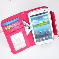Samsung i9190 Galaxy S4 Mini- Wallet Case hoesje uitneembaar-Roos