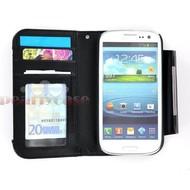 Samsung i9190 Galaxy S4 Mini- Wallet Case hoesje uitneembaar-Zwart
