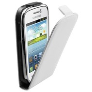 Samsung Galaxy Young - Flip Case Cover Hoesje Leder Wit