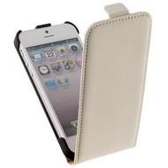 Apple Iphone 5 / 5S - Flip Case Cover Hoesje Y Leder Wit