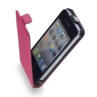 Apple Iphone 5 / 5S - Flip Case Cover Hoesje Y Leder Roze
