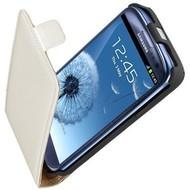 Samsung Galaxy S3 - Leder Flipcase cover Hoesje Wit