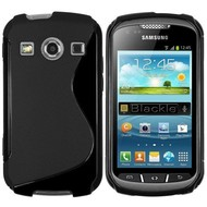 Samsung Galaxy Xcover 2 - Tpu Siliconen Case Hoesje S-Style Zwart