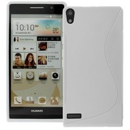 Huawei Ascend P6 - Tpu Siliconen Case Hoesje S-Style Wit