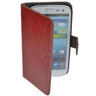 Samsung Galaxy S4 - Wallet Bookstyle Case Lederlook Bruin