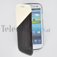 Samsung Galaxy S4 - Wallet Bookstyle Case Duocolor Zwart-Wit