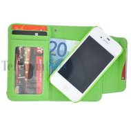 Apple iPhone 4/4S- Wallet / Book Case hoesje uitneembaar- Groen
