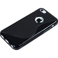Apple iPhone 5C - Tpu Siliconen Case Hoesje S-Style Zwart