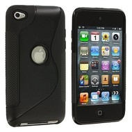 Apple Ipod Touch 4 - Tpu Siliconen Case Hoesje S-Style Zwart