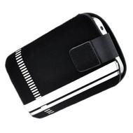Samsung i9190 Galaxy S4 Mini - insteek hoesje -Zwart streep