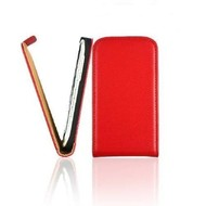 HTC One S  -PU leer  Flip case/cover hoesje - Rood