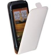 HTC One S  -PU leer  Flip case/cover hoesje - Wit
