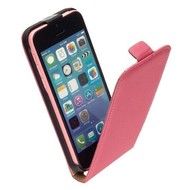 Apple iPhone 5C - Flip Case Cover Hoesje Lederlook Roze