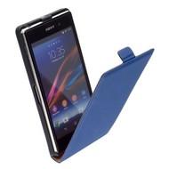 Sony Xperia Z1 - Leder  Flip case hoesje - Blauw