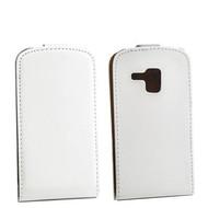 Samsung Galaxy Trend - Flip Case Cover Hoesje Lederlook Wit