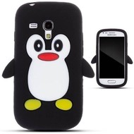 Samsung Galaxy Trend - Tpu Siliconen Case Hoesje Pinguïn Zwart