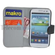 Samsung Galaxy S3 - Wallet Bookstyle Case Premium Zwart