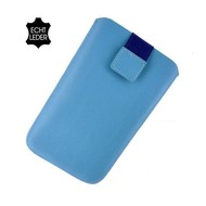 Samsung Galaxy S3 Mini - Insteekhoesje Cover Leder Turquoise