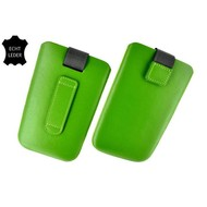 Samsung Galaxy S3 Mini - Insteekhoesje Cover Leder Groen