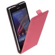 Sony Xperia Z1 - Leder  Flip case hoesje - Roos