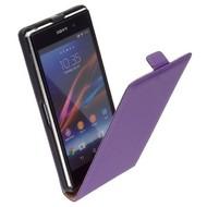 Sony Xperia Z1 - Leder  Flip case hoesje - Paars