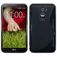 LG G2 - Tpu Siliconen Case Hoesje S-Style Zwart