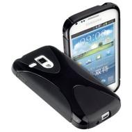 Samsung Galaxy Trend - Tpu Siliconen Case Hoesje X-Style Zwart