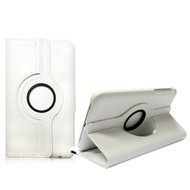 Samsung TAB 3 (8.0) - Hoes 360° Draaibare Case Lederlook Wit