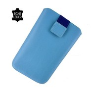 Samsung Galaxy Trend Lite (Fresh) - Insteekhoesje Cover Leder Turquoise