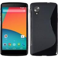 Lg Nexus 5 - Tpu Siliconen Case Hoesje S-Style Zwart