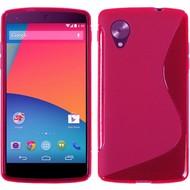 Lg Nexus 5 - Tpu Siliconen Case Hoesje S-Style Roze