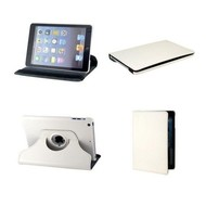 Apple iPad Mini - Hoes 360° Draaibare Case Lederlook Wit