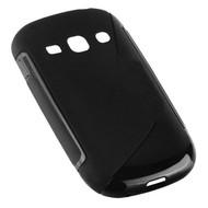 Samsung Galaxy Fame Lite - Tpu Siliconen Case Hoesje S-Style Zwart