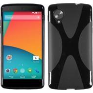 Lg Nexus 5 - Tpu Siliconen Case Hoesje X-Style Zwart