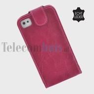 Apple Iphone 4/4S - Echt Leder Flip case P hoesje - Bordeaux
