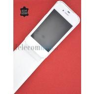 Apple iPhone 5 / 5S - Flip Case Cover Hoesje Echt Leder Wit
