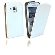 Samsung Galaxy Trend - Flip Case Cover Hoesje Leder Wit