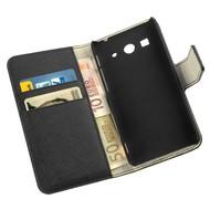 Samsung Galaxy Fame - Wallet Bookstyle Case Y Zwart