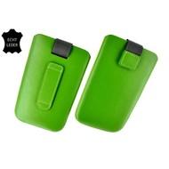 Samsung Galaxy Trend Plus - Insteekhoesje Cover Leder Groen