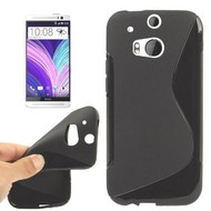 HTC One M8 - Tpu Siliconen Case Hoesje S-Style Zwart