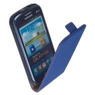 Samsung i8260 Galaxy Core  -Leder  Flip case/cover hoesje - Blauw