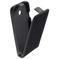 Huawei Ascend Y330 - Flipcase Cover Hoesje Leder Zwart