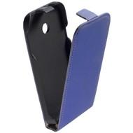Huawei Ascend Y330 - Flipcase Cover Hoesje Leder Blauw