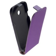 Huawei Ascend Y330 - Flipcase Cover Hoesje Leder Paars